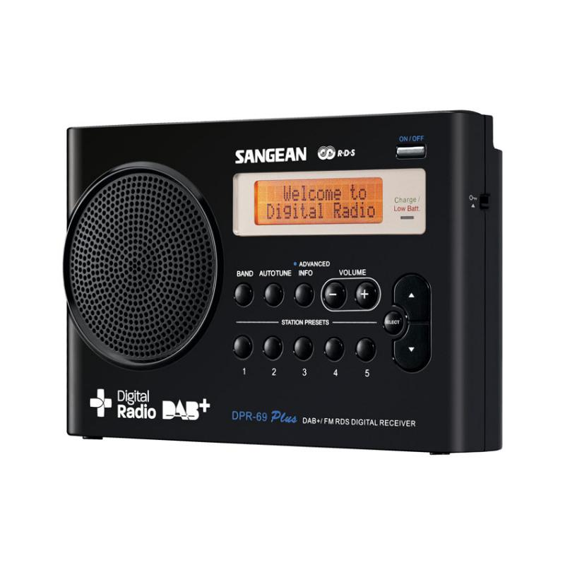 sangean dpr 69 b dab fm rds digital radio receiver. Black Bedroom Furniture Sets. Home Design Ideas