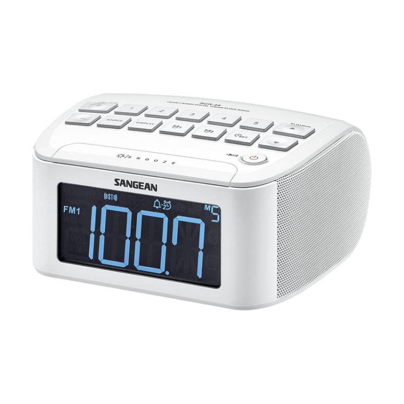 sangean rcr 24 fm am aux in digital tuning clock radio. Black Bedroom Furniture Sets. Home Design Ideas