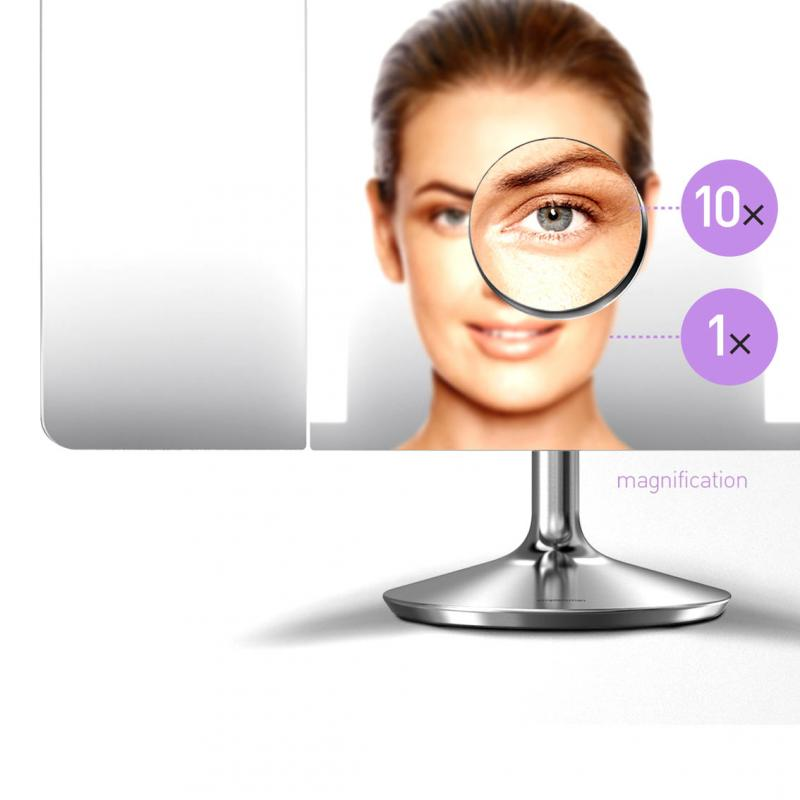 Simplehuman St3014 Sensor Mirror Pro Wide View 1x Magnification 10x Detail Stainless Steel
